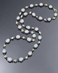 sapphire pearl necklace images Moonstone sapphire and south sea pearl necklace assael jpg