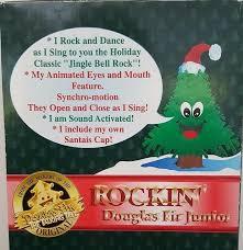 image rockin u0027 douglas fir junior talking animated christmas
