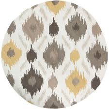 Round Rug 6 by Artistic Weavers Olivos Yellow 3 Ft X 3 Ft Round Indoor Area Rug