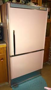 pink 1962 product of gm frigidaire refrigerator atomic kitchen