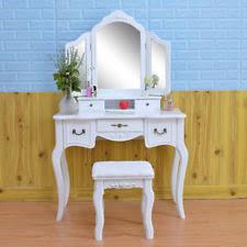 Antique White Vanity French Vintage White Wood Vanity Dressing Table Set Makeup Desk