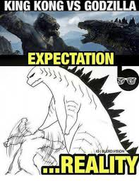 king kong vs godzilla expectation gibwerdvision reality godzilla