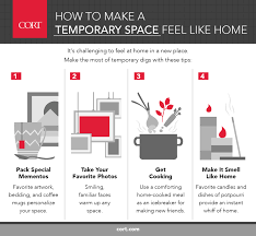 how to make space how how to make a temporary space feel like home cort furniture