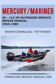 45 115 hp outboard service manual 1965 1989