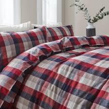 linea braxton flannel duvet set bluewater 69 00