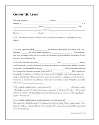 Commercial Lease Sample Real Estate Forms