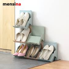Shoe Home Decor Mensina Family Stackable Shoes Rack Stand Storage Organizer For