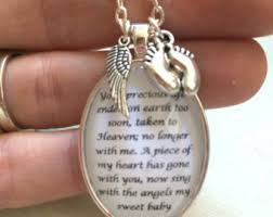 remembrance jewelry baby miscarriage memorial pendant necklace loss of a baby