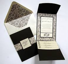 invitation pockets paisley floral bitter chocolate pocket invitation cards