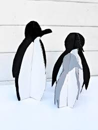 fun diy christmas decorations penguins pillar box blue