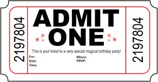 free birthday invitations birthday invitation ticket template alanarasbach