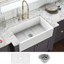 home depot kitchen sink vanity ruvati 30 in x 20 in fireclay reversible farmhouse apron