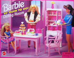 barbie dining room set amazon com barbie so much to do dining room playset 1995 arcotoys