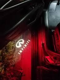 infiniti qx60 red courtesy door light logo projectors infiniti qx60 forum