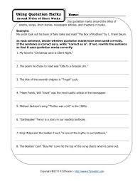 Quotation Marks Worksheet Quotation Marks Free Printable Punctuation Worksheets