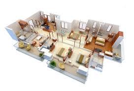 Home Design 3d Para Windows 7 50 Four U201c4 U201d Bedroom Apartment House Plans Architecture U0026 Design