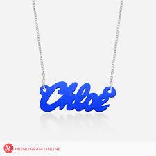 acrylic name necklace acrylic name necklace monogram online