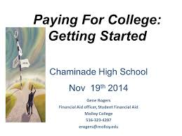 paying for college getting started ppt video online download