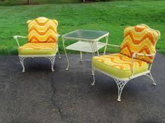 Retro Patio Furniture Sets Homecrest Metal Patio Chairs Vintage Wrought Iron Mid Century