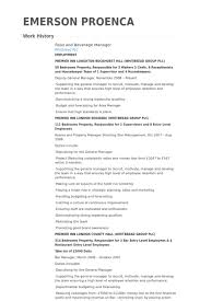 Director Resume Examples by Food And Beverage Manager Resume Samples Visualcv Resume Samples