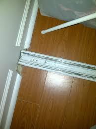 Closet Door Track Closet Door Track Bottom