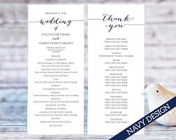 wedding program templates wedding program templates ceremony program template two