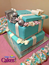 tiffany u0026 co inspired baby shower cake cakecentral com