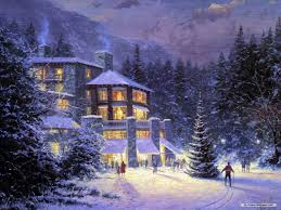 free wallpaper free holiday wallpaper christmas eve painting