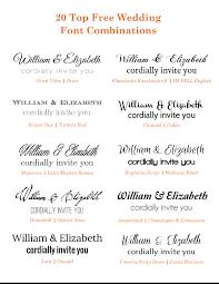 wedding invitations font 20 popular free wedding font combinations bonfx