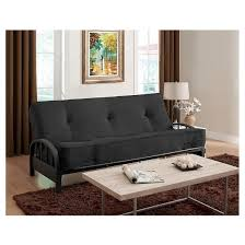 aiden futon frame black dorel home products target