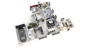 plan de maison 4 chambres plan maison plain pied 4 chambres 3d rn73 jornalagora
