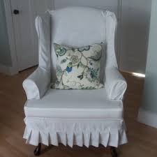 white wing chair slipcover furniture wingback chair slipcover decor ideas somvoz com