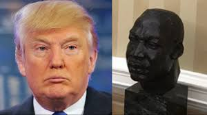 Trumps Oval Office by Fake News Trump Did Not Remove Martin Luther King Bust From