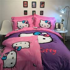 Sexy Bed Set by Aliexpress Com Buy Sexy Purple Pink Hello Kitty 3d Printed