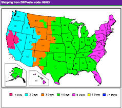 map zones shipping zone maps