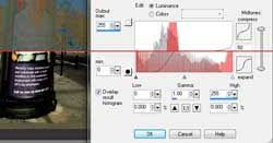using the histogram tool in paint shop pro x2