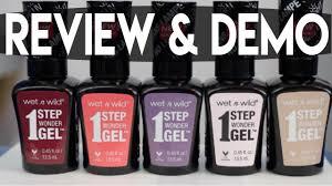 wet n wild gel nail polish review u0026 demo youtube