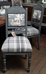 Upholstery For Dummies A Set Of Four Victorian Chairs Painted In Autentico Pigeon Grey