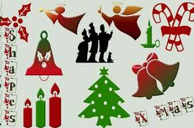 a collection of free christmas shapes csh for photoshop designbeep