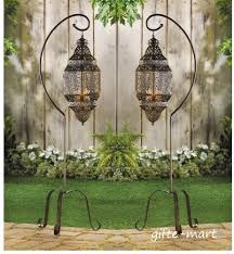 Large Floor Candle Stands by 2 Large Hanging Moroccan Pendant Lantern Candle Holder Lamp Floor