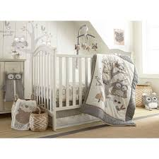 woodland animals baby bedding amazon com levtex baby night owl 5 piece crib bedding set quilt