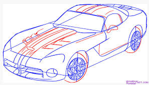 how to draw a dodge viper step by step cars draw cars online