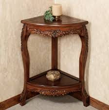 Accent Table Decor Interior Wooden Home Accent Table Combined With Artistic Golden