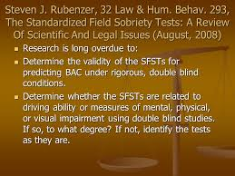 What Are Double Blind Studies Applying Sfst Science In The Courtroom Leonard R Stamm Goldstein
