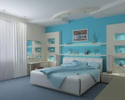 Blue And White Bedrooms by Bedroom Spacious Bedroom With Sea Blue And White Combination For