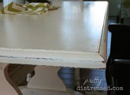 pretty distressed using a polycrylic sealer with chalk paint
