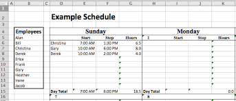 staffing schedule template free ebook download or employee