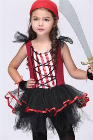 child s halloween costume hood short sleeve costume ball caribbean sea kids pirates girls
