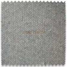 carrara white 5 8x1 1 4 herringbone mosaic tile tumbled marble