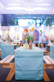centerpieces for party tables ellie s coachella themed party 1st birthday coachella themed